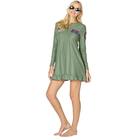 Top Gun 'Maverick' Costume Pajama Nightgown, Green,