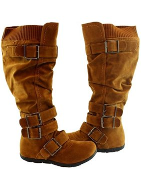 5b677649f5b8 Product Image Bella Marie Adult Tan Oversized Buckle Strap Adorned Boots