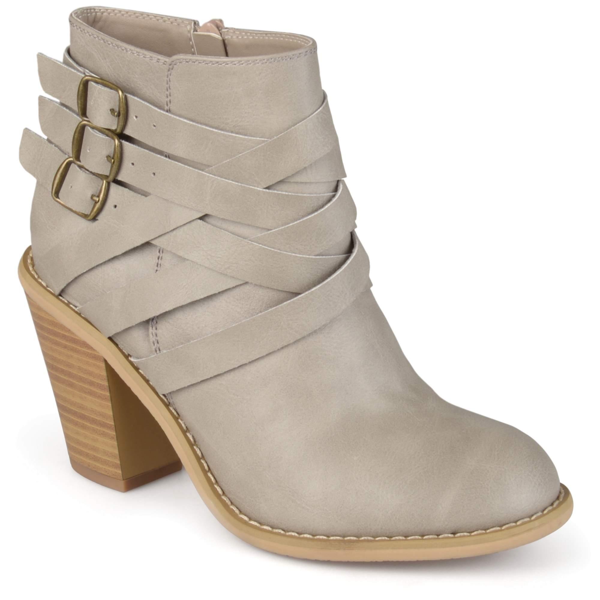 Women's Ankle Wide Width Multi Strap Boots