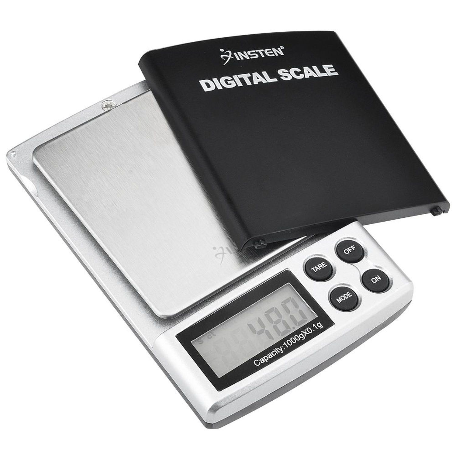 Insten 2lb Digital Pocket Scale Pocket Jewelry GRAM Scale (1000g x 0.1g) with Stainless Steel Salver and LCD display