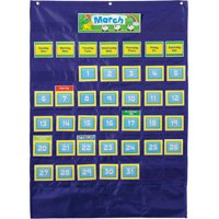 Carson-Dellosa Deluxe Calendar Pocket Chart 101 items; 1 pocket chart, 100 cards