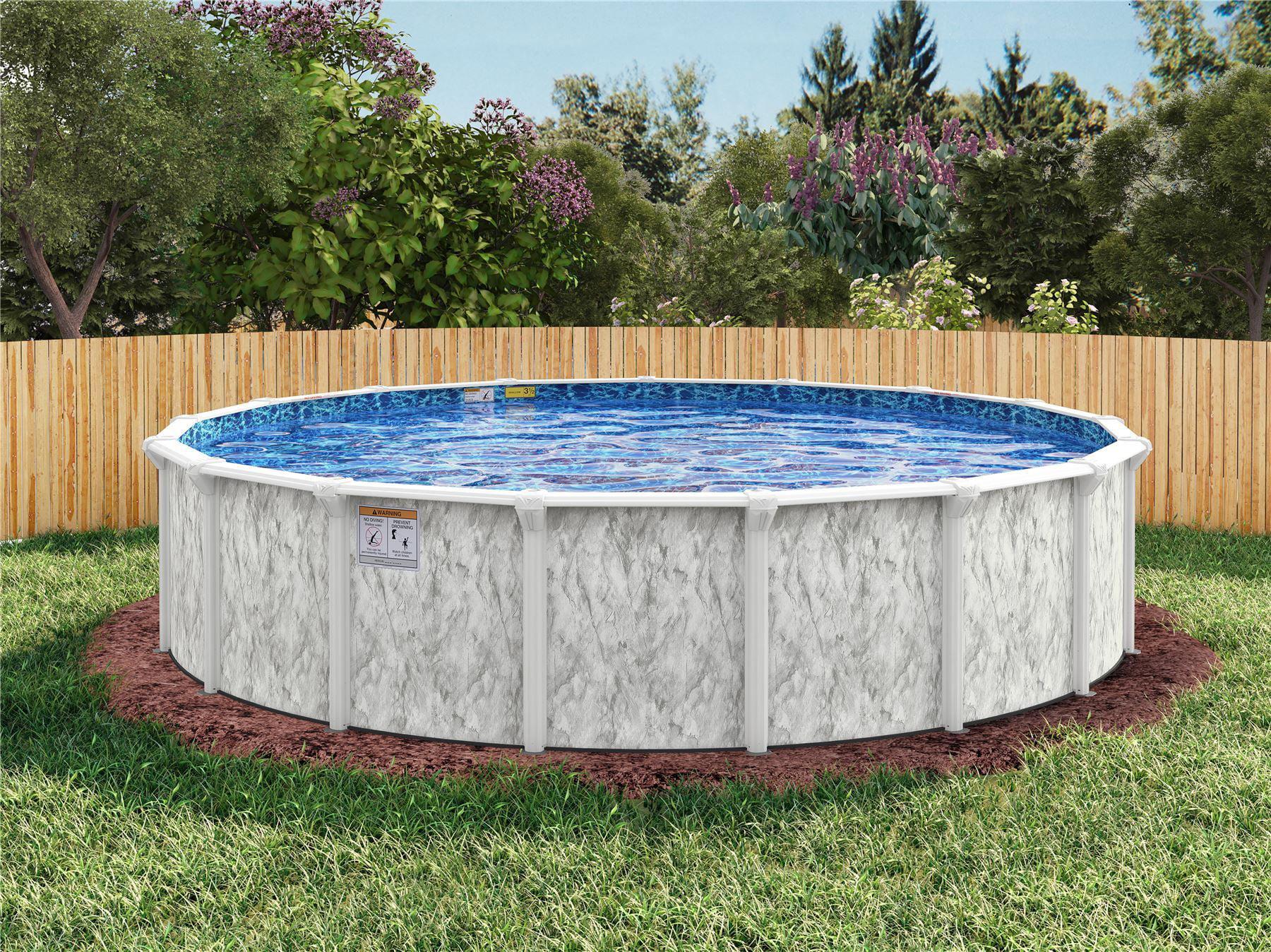 Embassy 34 x 18 Sunnylea Oval Above Ground Pool Mardi Gras Liner ...