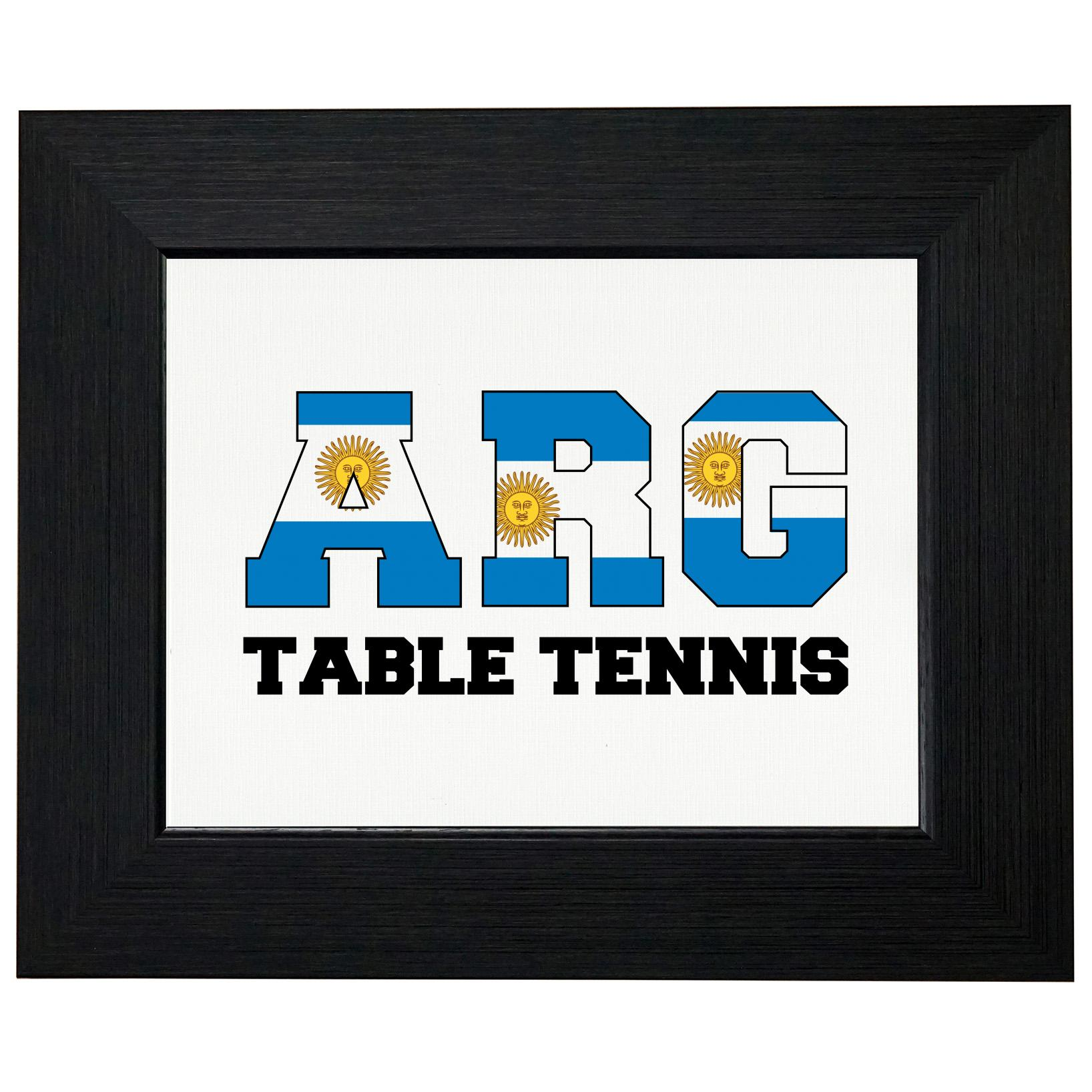 Argentina Ping Pong Olympic Games Rio Flag Framed Print Poster Wall or Desk Mount Options by Royal Prints