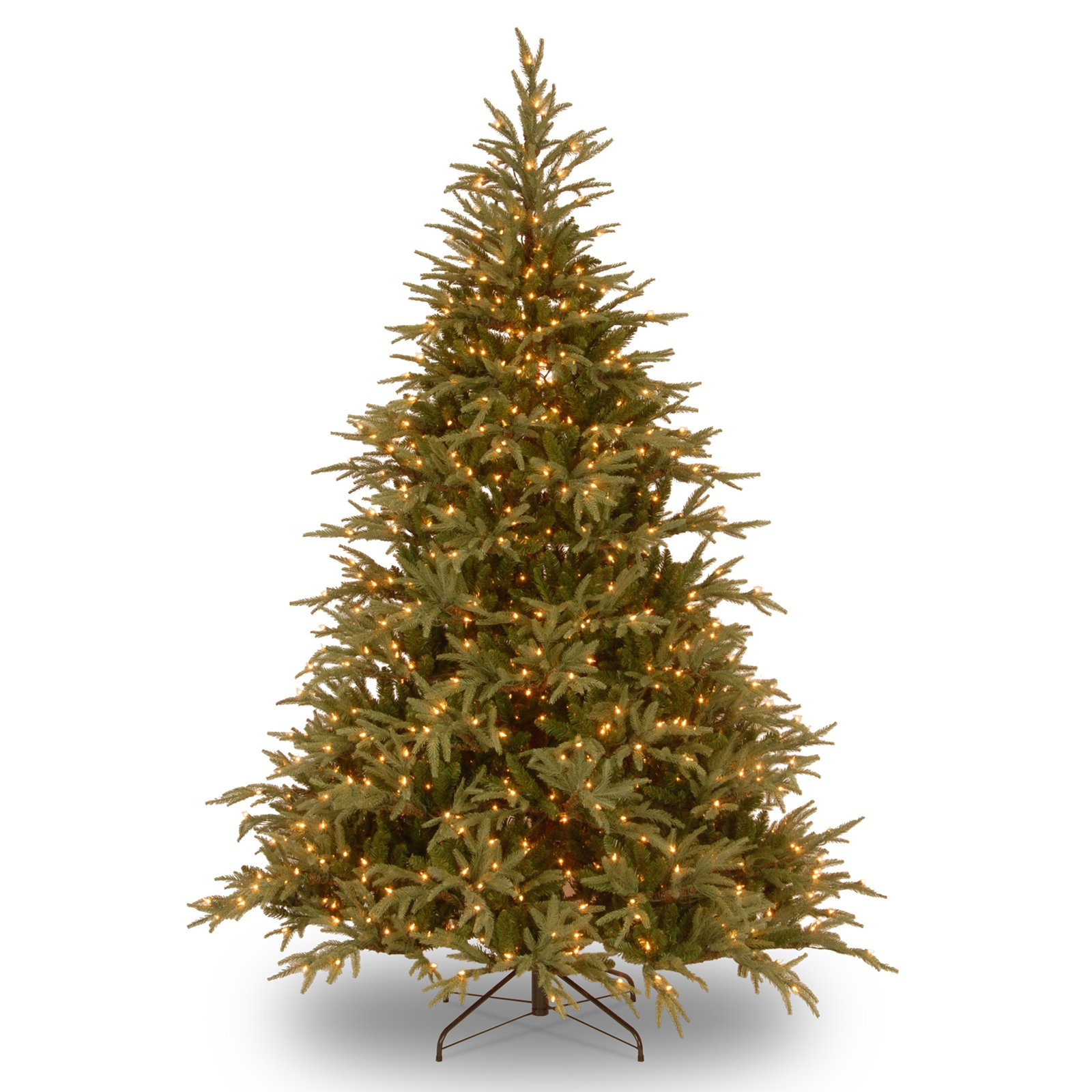 "National Tree Pre-Lit 9' ""Feel-Real"" Frasier Grande Hinged Artificial Christmas Tree with 1500 Dual LED Lights"