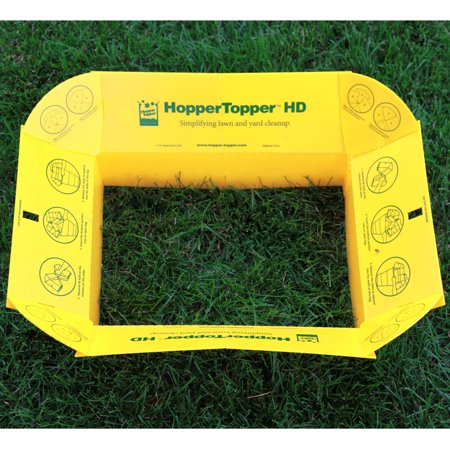 Hoppertopper Hd Plastic Lawn And Leaf Bag Funnel Yellow 2pk
