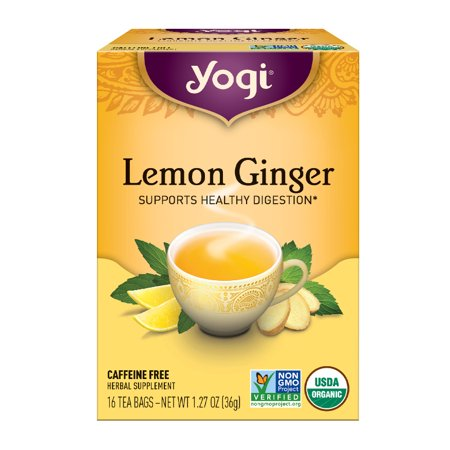 (3 Boxes) Yogi Tea, Lemon Ginger Tea, Tea Bags, 16 Ct, 1.27 OZ (Tea Lemon Ginger Tea)