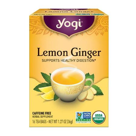 (3 Boxes) Yogi Tea, Lemon Ginger Tea, Tea Bags, 16 Ct, 1.27 OZ