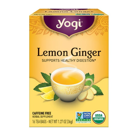 (3 Boxes) Yogi Tea, Lemon Ginger Tea, Tea Bags, 16 Ct, 1.27 OZ