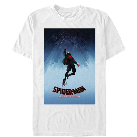 Marvel Men's Spider-Man: Into the Spider-Verse Fall T-Shirt (Spiderman Suits For Sale)