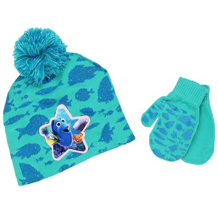 Dora Beanie (Finding Dory Nemo Boys Girls Winter Beanie Hat and Mittens Set)