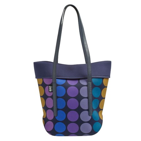 Neoprene Large City Tote with Strap Plum Dot, Lunch -