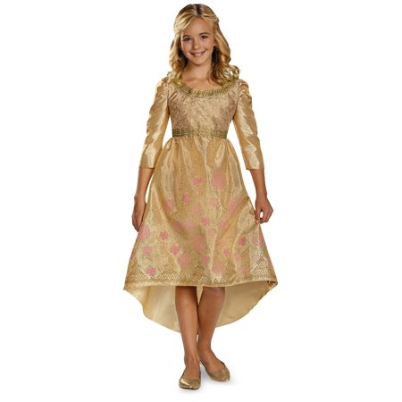 Aurora Maleficent (Girls Gold Princess Aurora Disney Maleficent Coronation Dress Gown)