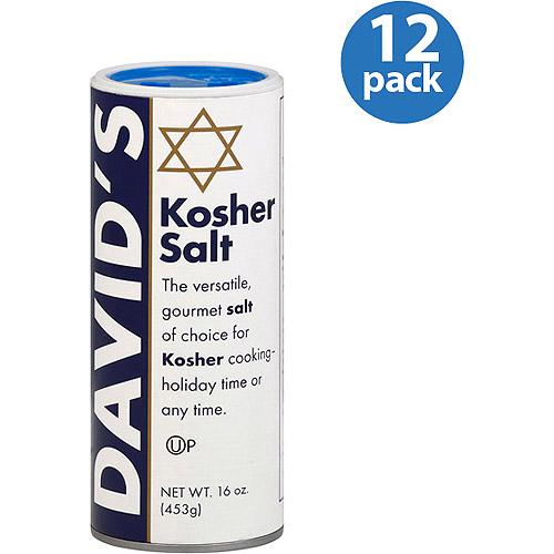 David's Kosher Salt, 16 Oz, (pack Of 12)