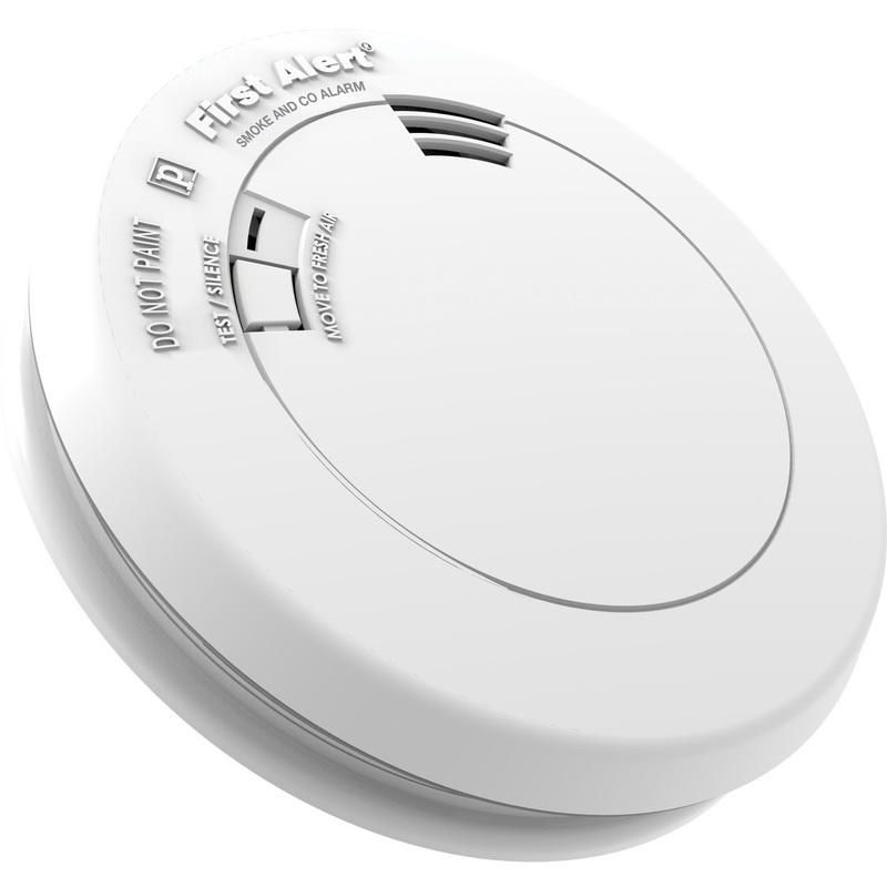 BRK PRC700VB Single Station Photoelectric Smoke and Electrochemical CO Combination Alarm With Voice and 3 Volt 2 AA Alkaline Battery First Alert®