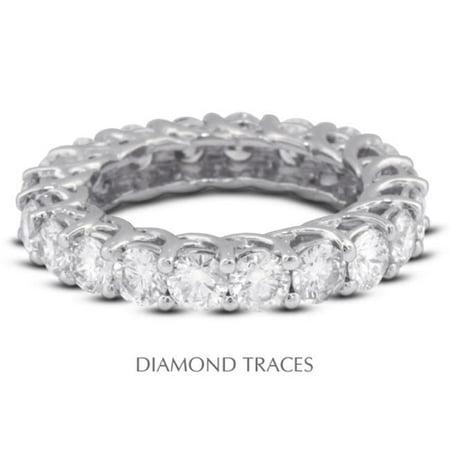 UD-EWB418-5551 18K White Gold 4-Prong Setting 3.61 Carat Total Natural Diamonds Trellis Eternity - Cut Diamond Ring Trellis Setting