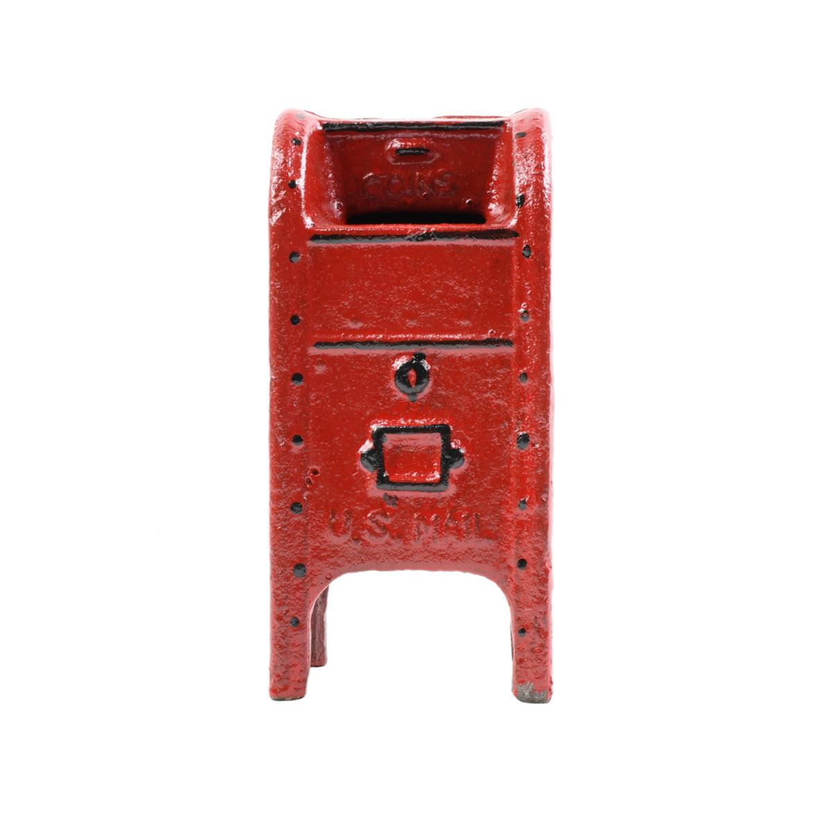 Vintage Style Cast Iron Red Mailbox Coin Piggy Bank Metal Mail Box Antique Home Decor Walmart Com Walmart Com