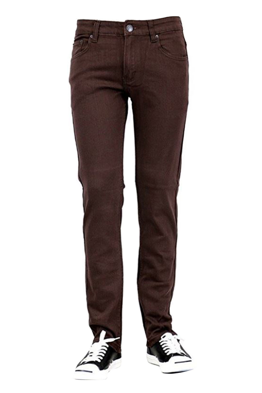 Victoriouse Mens Skinny Fit Denim Pants Jeans Brand Basic Slim Cut DL-937-28W x 30L-White
