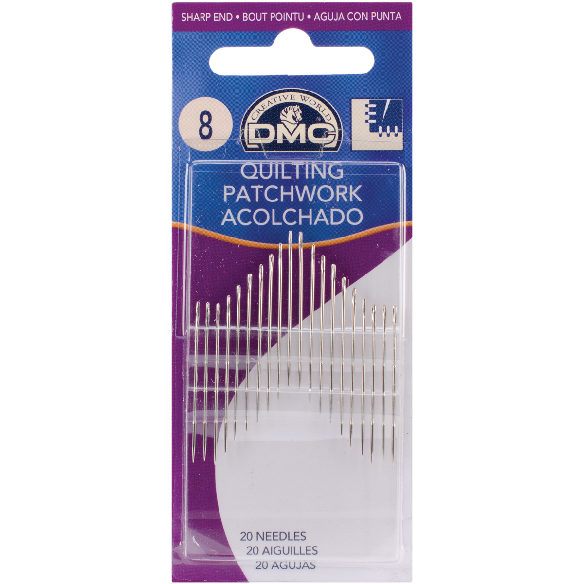 Quilting Hand Needles - Size 8 20/Pkg