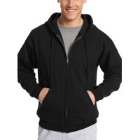 Deals on Hanes Mens EcoSmart Fleece Full Zip Hooded Jacket