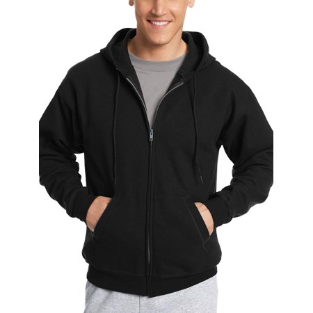 - Hanes Men's Ecosmart Fleece Zip Pullover Hoodie with Front Pocket