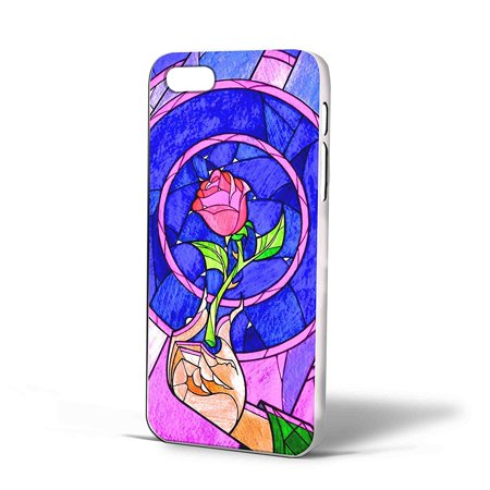 Ganma Beauty and The Beast Red Rose in Stained Glass Case For iPhone Case (Case For iPhone 6