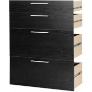 Tvilum 2 Door and 2 File Kit for Pierce Bookcase, Black Woodgrain