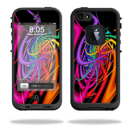 Mightyskins Protective Vinyl Skin Decal Cover for LifeProof iPhone 5/5s/SE Case fre Case wrap sticker skins Color Invasion