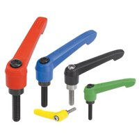 KIPP 06610-20816X50 Adjustable Handles, 1.99, M8, Yellow