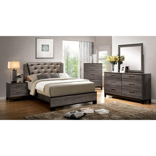 Furniture of America Althea 4-Piece Gray Bedroom Set, Multiple Sizes by Furniture of America