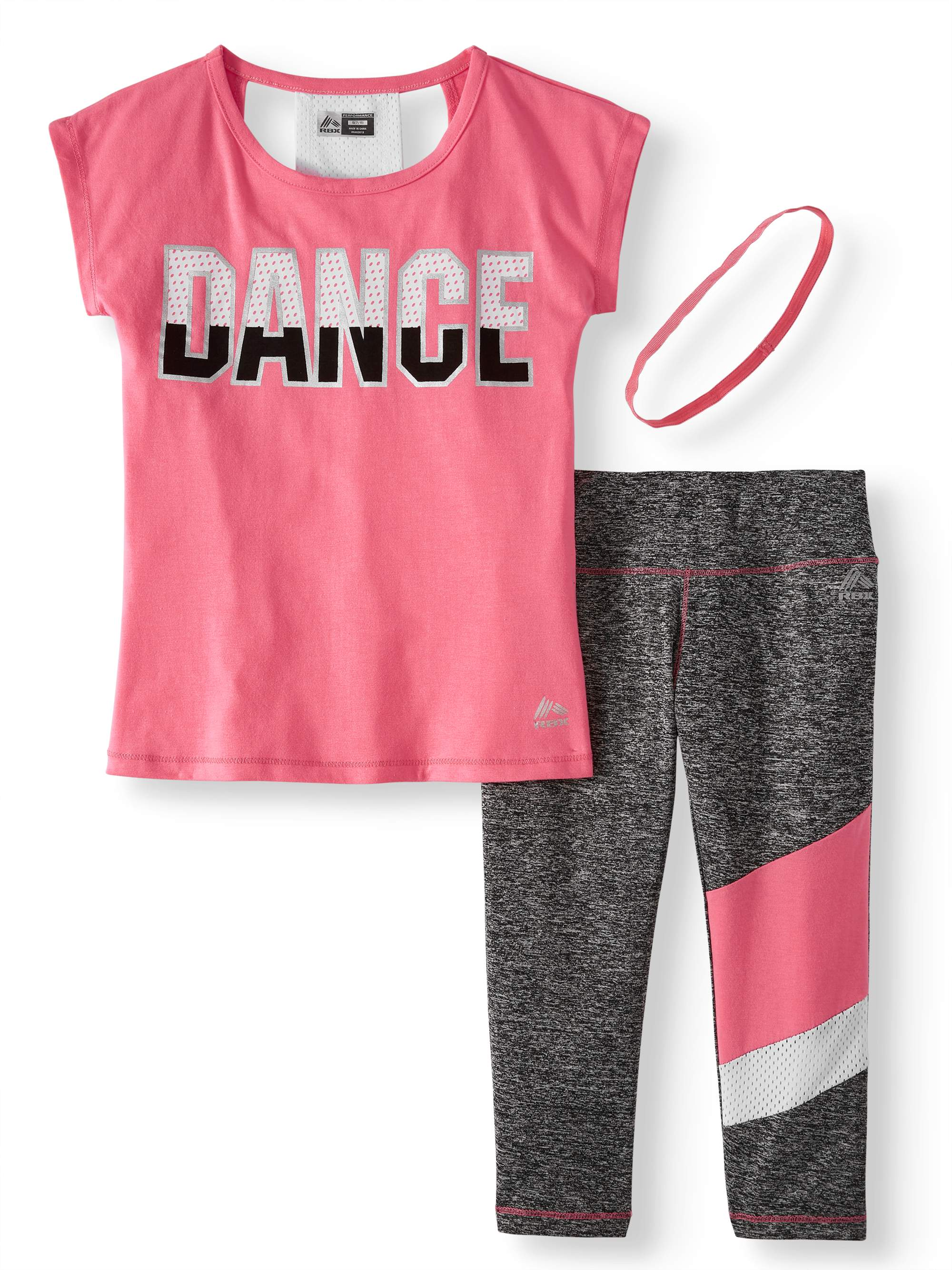 Racerback Graphic Top and Capri Performance Legging, 2-Piece Active Set (Little Girls & Big Girls)