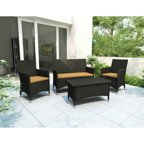 Modway Harmony 4 Piece Outdoor Patio Sofa Set Walmart Com