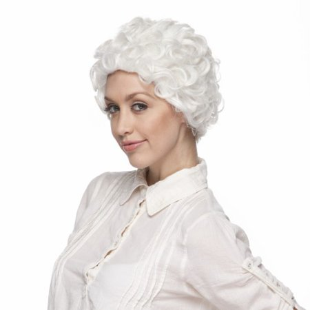 Characters Mom Synthetic Wig -  White - White Wig For Kids
