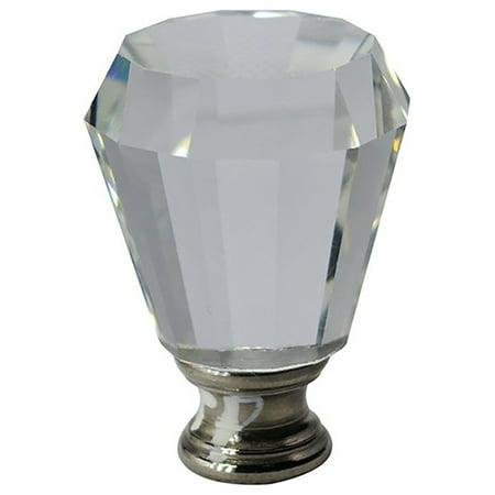 "Urbanest Urbanest Crystal Anne Lamp Finial, Brushed Steel, 2"""