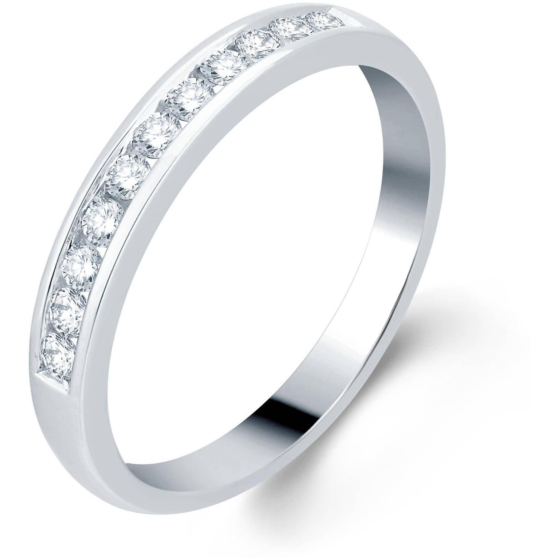 1 4 Carat T.W. Round Diamond 10kt White Gold Wedding Band, I-J I2-I3 by Generic
