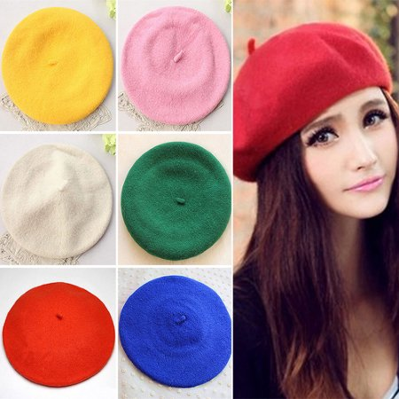 Moderna Classic Solid Color Winter French Style Beret Artist Hat Casual Women Cap - French Artist Hats