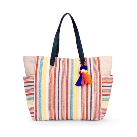 No Boundaries Caroline Woven Tote (Light Non Woven Tote)
