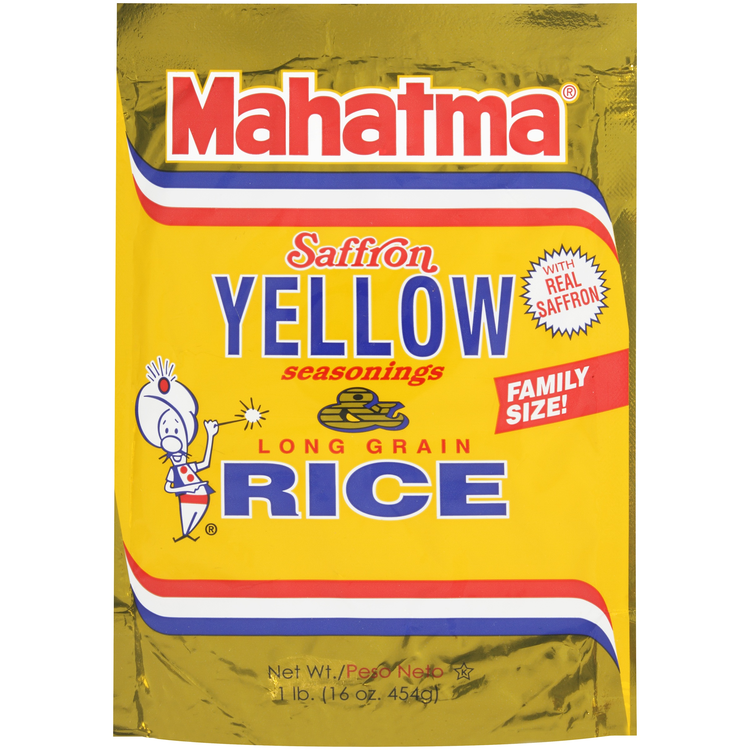 Mahatma Saffron Yellow Seasonings & Long Grain Rice 16 oz Pouch