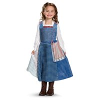Disney Beauty And The Beast Belle Girl Child Deluxe Village Dress Costume