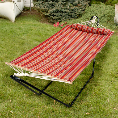 "Bliss 48"" Tequila Sunrise Hammock with Pillow, Toasted Almond"