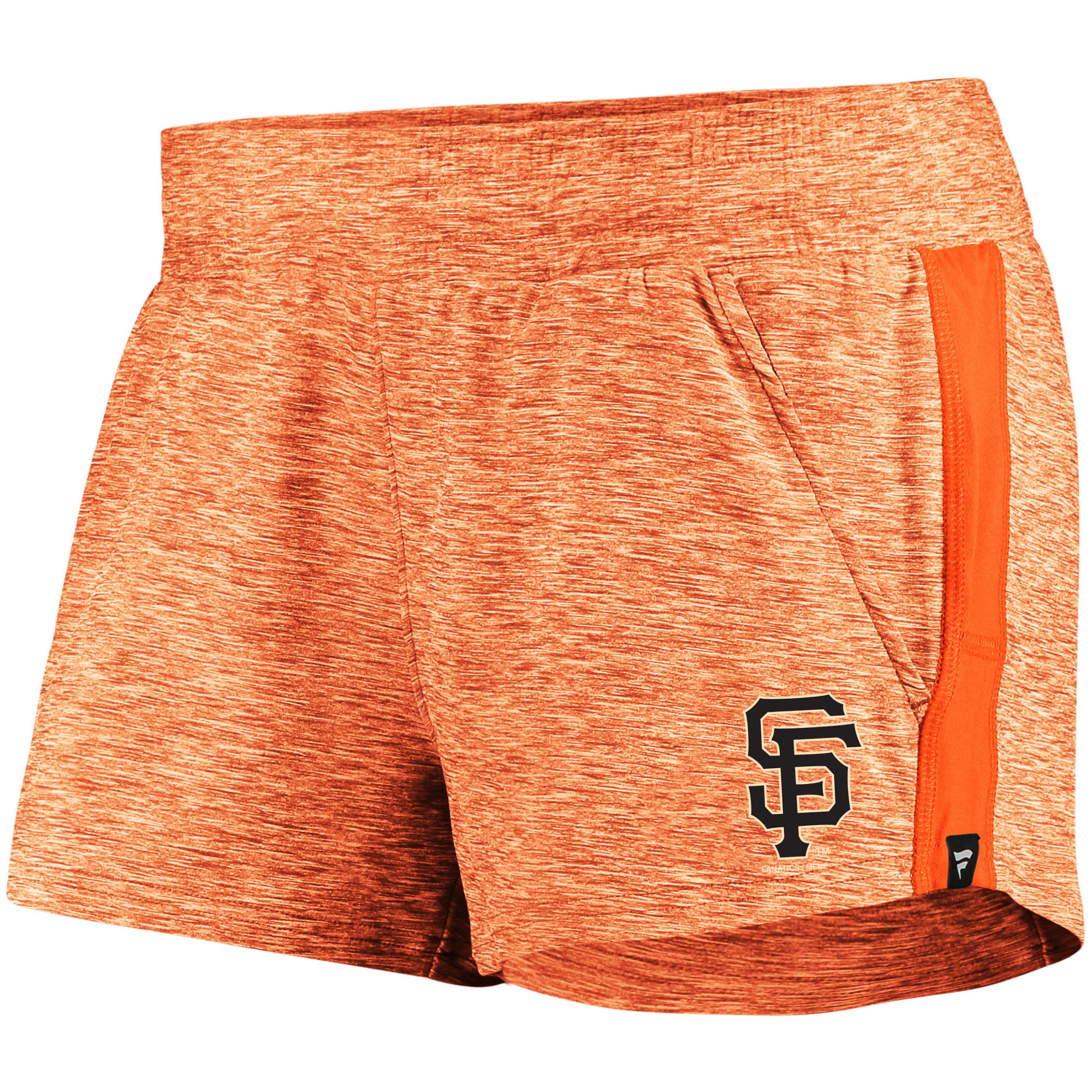 San Francisco Giants Fanatics Branded Women's Made To Move Running Shorts - Heathered Orange/Orange