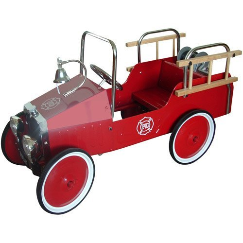 Jalopy Fire Truck Pedal Riding Toy