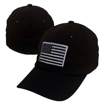 USA US American Flag Washed Flex Cotton Polo Unstructured Fit Baseball Hat Cap