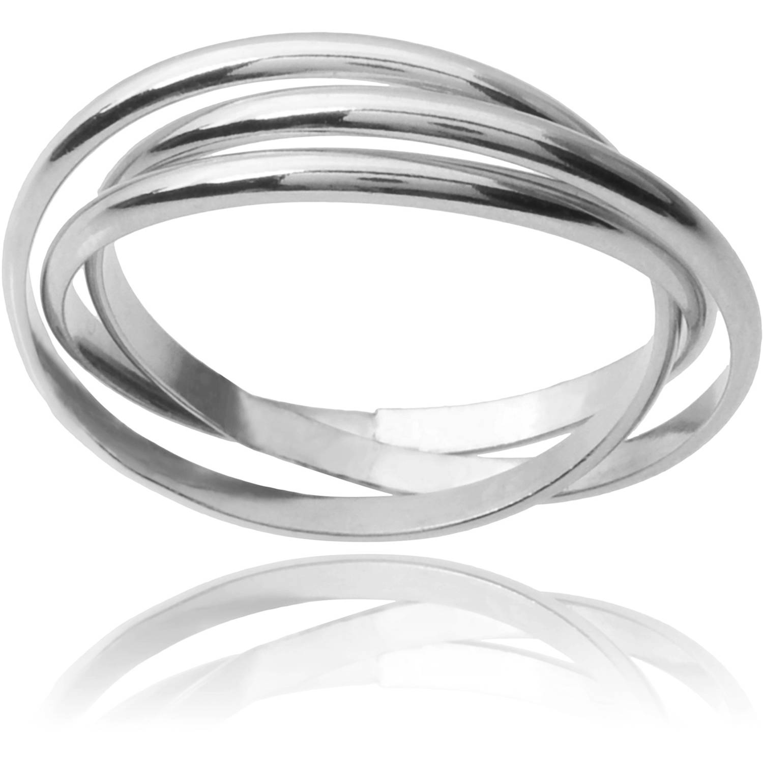 Brinley Co. Women's Sterling Silver 3-Band Rolo Fashion Ring