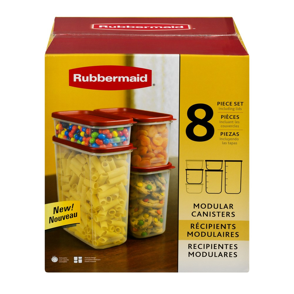 Rubbermaid 8 Piece Modular Food Canister Set