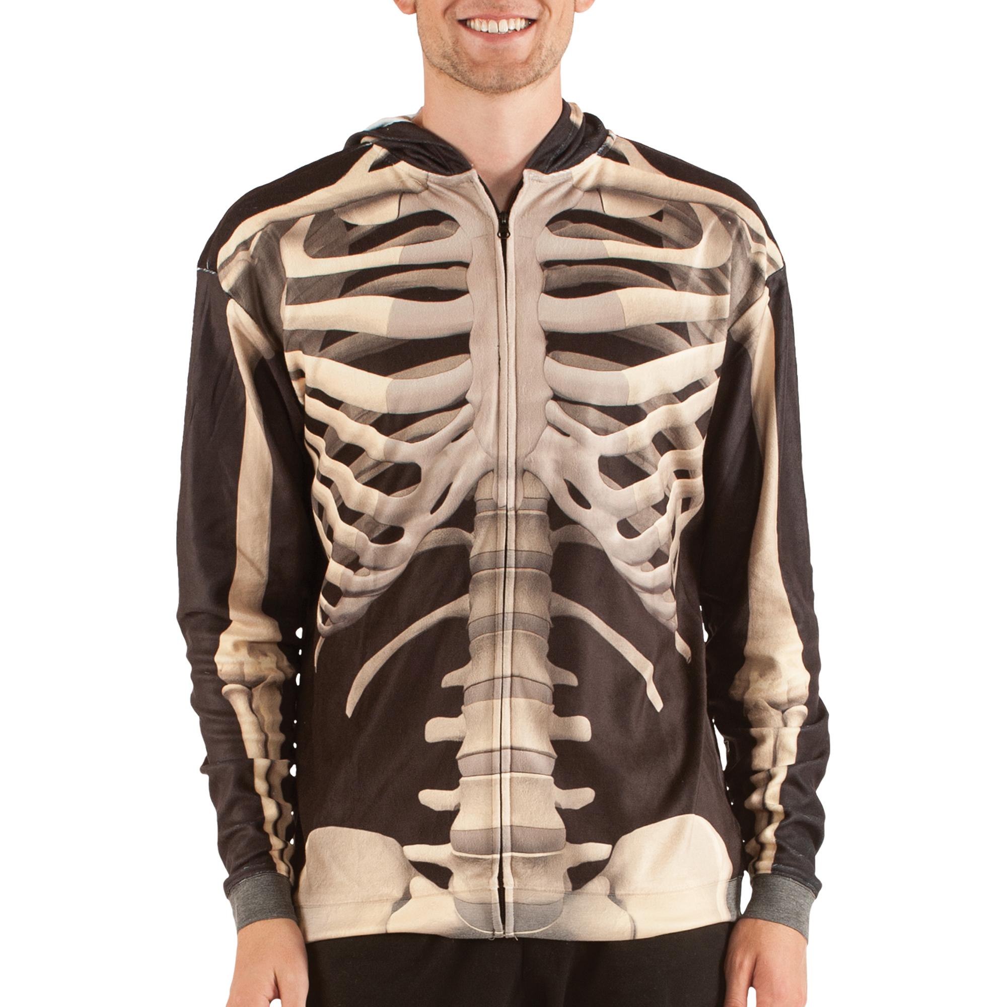 Skeleton Sweatshirt Men's Long Sleeve Zip up Sweatshirt