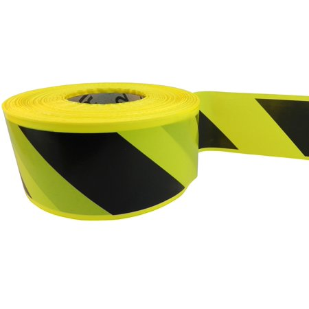 WOD BRC BY Barricade Caution Flagging Tape 3 inch x 1000 feet High Vis