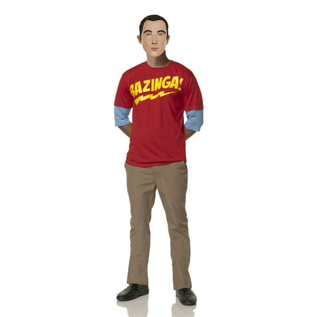 The Big Bang Theory Halloween Party (THE BIG BANG THEORY SHELDON'S BAZINGA ADULT MENS)