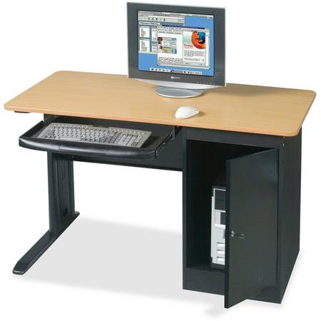 BALT LX48 Computer Security Workstation, 48w x 24d x 28-3/4h, Teak/Black ()