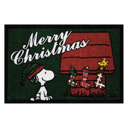 Peanuts by Nourison Buddies Merry Christmas Indoor Doormat ()