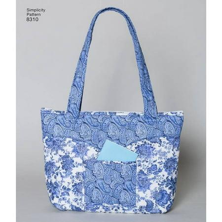 Simplicity Blue Floral Handbag, 1 Each - Green Floral Pattern